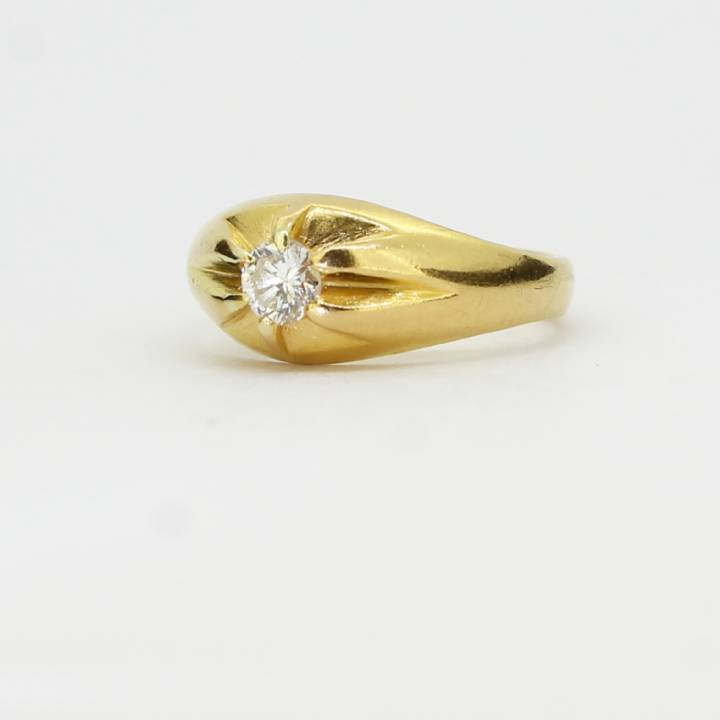 Pre-Owned 18ct Yellow Gold Diamond Solitaire Ring Total 0.28ct 1602055