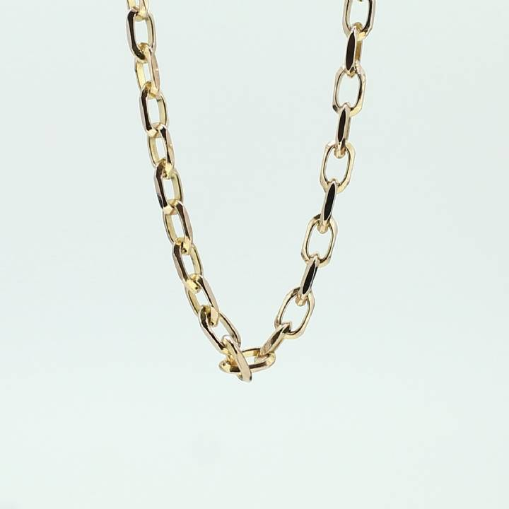Pre-Owned 9ct Yellow Gold Diamond Link Chain