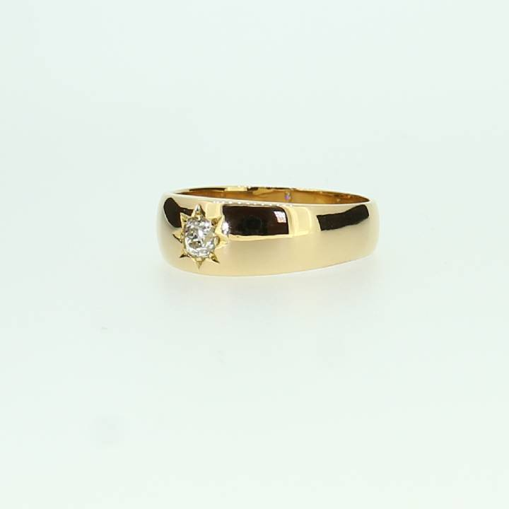 Pre-Owned Gents 22ct Yellow Gold Diamond Solitaire Ring 0.26ct 7115047