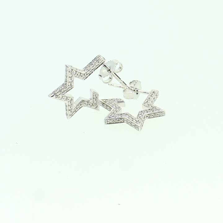 Pre-Owned 18ct White Gold Diamond Star Earrings 0.50ct Total