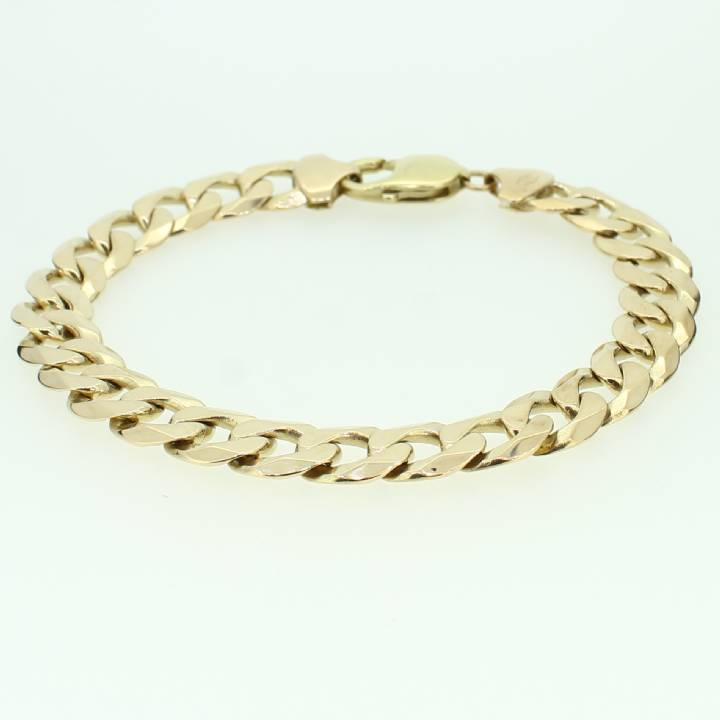 Pre-Owned Gents 9ct Yellow Gold Curb Bracelet