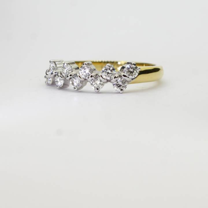 18ct Yellow Gold Diamond 10 Stone Fancy Ring 0.60ct Total 0526238