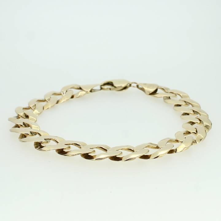 Pre-Owned Gents  9ct Yellow Gold Flat Curb Bracelet