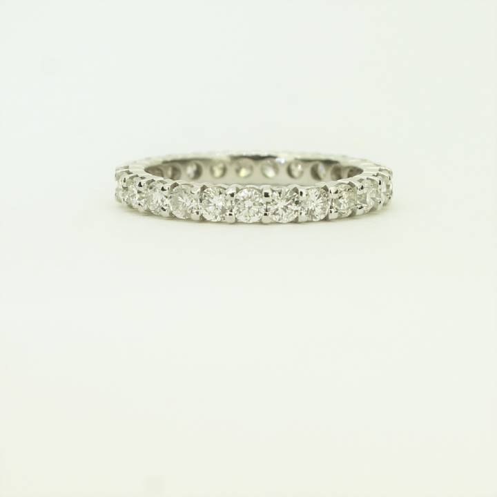 Pre-Owned White Gold Diamond Full Eternity Ring Total 1.30ct 1603282