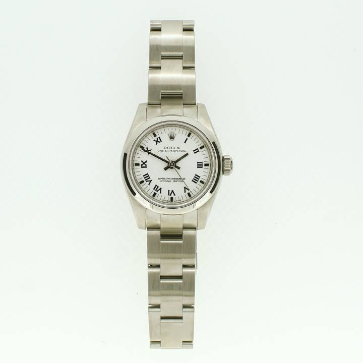 Pre-Owned Ladies Rolex Oyster Perpetual Watch White Dial