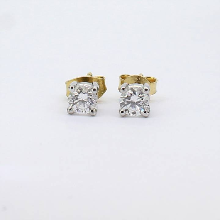 Pre-Owned 18ct Yellow Gold Diamond Solitaire Earrings 0.52ct