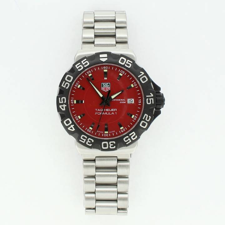 Pre-Owned Tag Heuer Formula 1 Watch, Red Dial 7209088