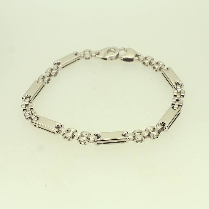 Pre-Owned 9ct White Gold Fancy Bracelet