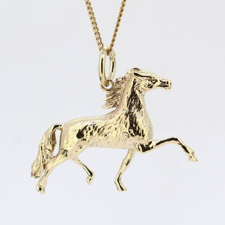 Pre-Owned 9ct Yellow Gold Horse Pendant