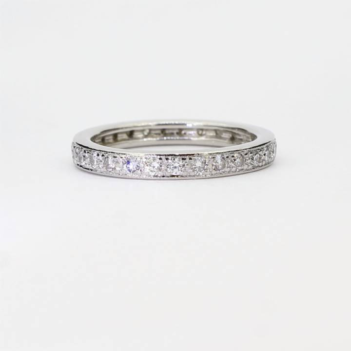 Pre-Owned Platinum Diamond Full Eternity Ring 0.50ct Total 1603294
