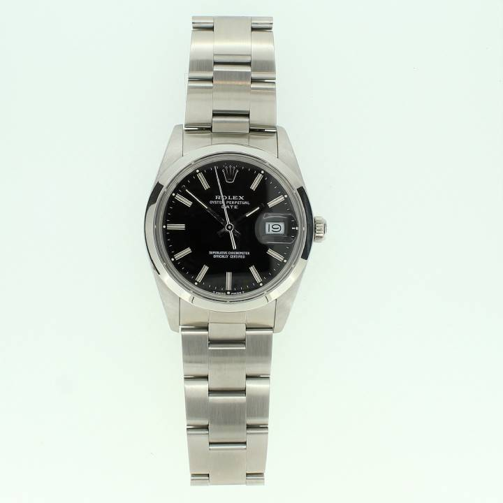 Pre-Owned Rolex Oyster Perpetual Date Watch, Black Dial
