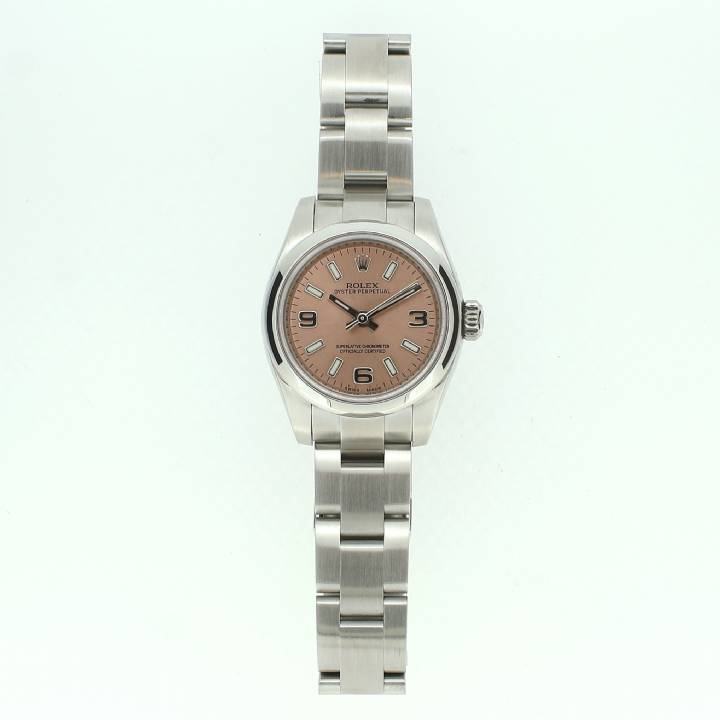 Pre-Owned Ladies Rolex Oyster Perpetual Watch, Salmon Pink Dial
