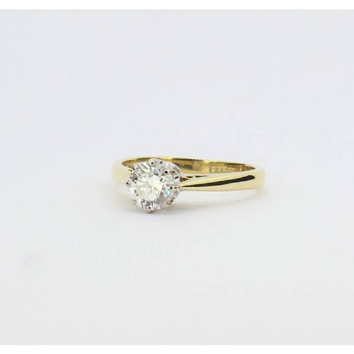 Pre-Owned 18ct Yellow Gold Diamond Solitaire Ring 0.66ct