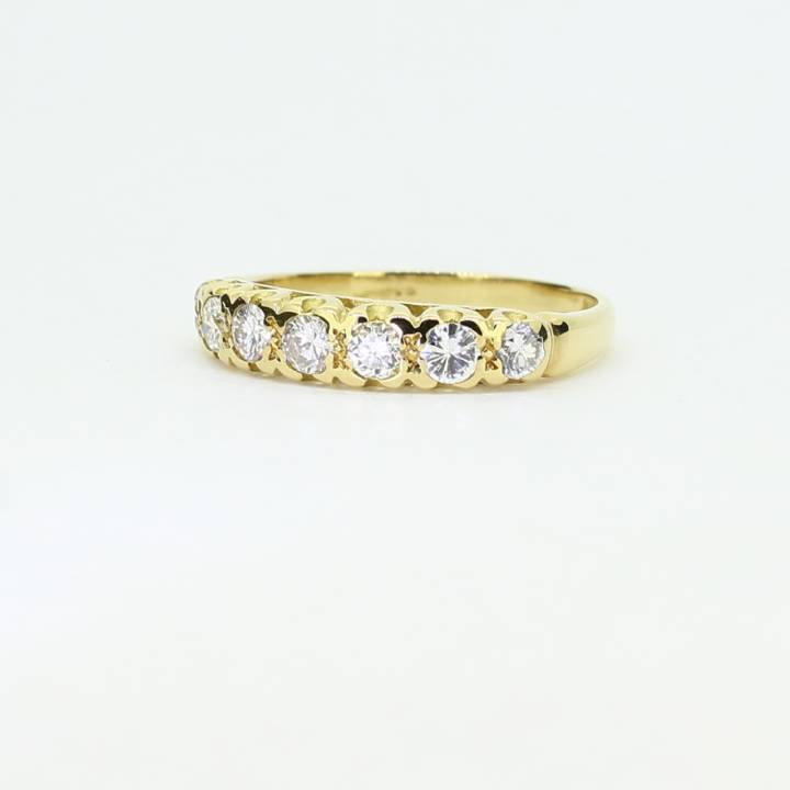 Pre-Owned 18ct Yellow Gold Diamond Half Eternity Ring 0.63ct
