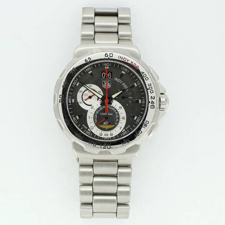 Pre-Owned Tag Heuer Indy 500 Watch, Black Dial