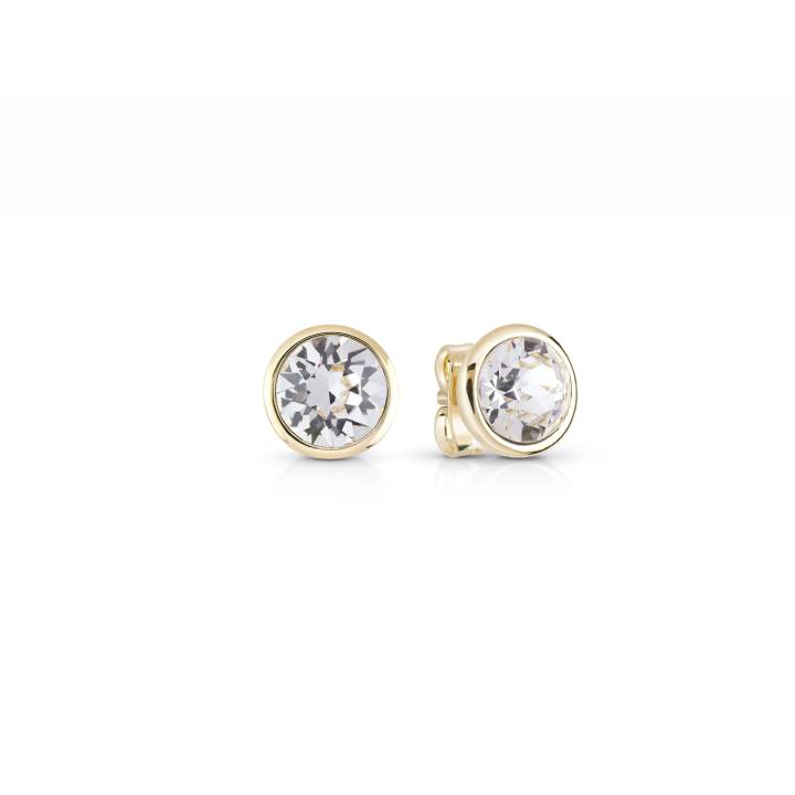 Guess Miami Gold Plated Round CZ Stud Earrings, Was £19.00 1401677