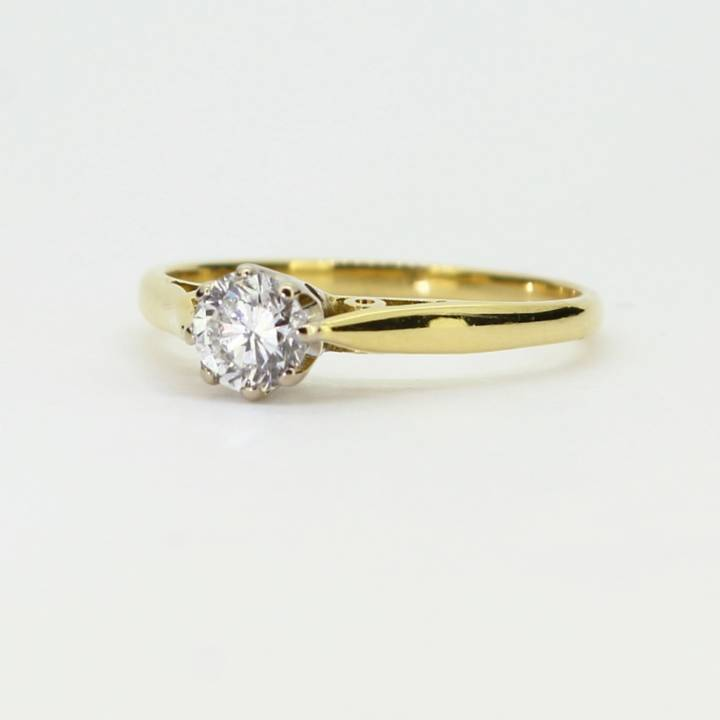 Pre-Owned 18ct Yellow Gold Diamond Solitaire Ring 0.33ct 1601751