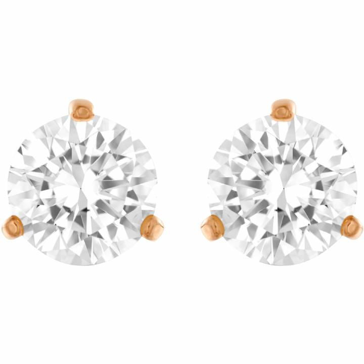 Swarovski Gold Plated Solitaire Earrings, Was £ 49.00 2601021