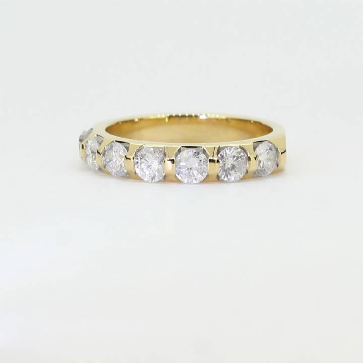 Pre-Owned 18ct Yellow Gold Diamond Half Eternity Ring 1.00ct 1603301