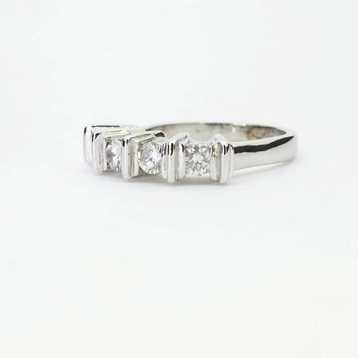 Pre-Owned 18ct White Gold Half Eternity Ring 0.60ct Total