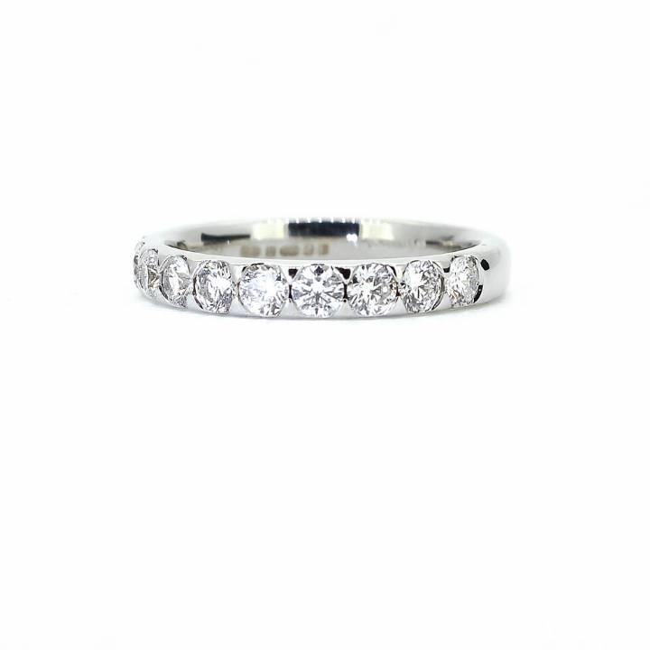 Pre-Owned 18ct White Gold Diamond Half Eternity Ring 1603307