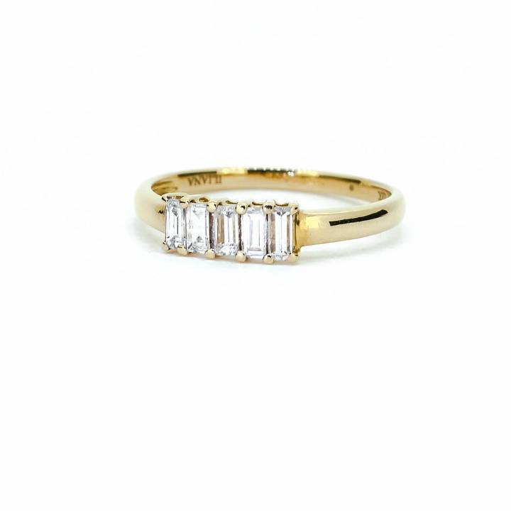 Pre-Owned 18ct Yellow Gold Diamond 5 Stone Diamond Ring 0.50ct
