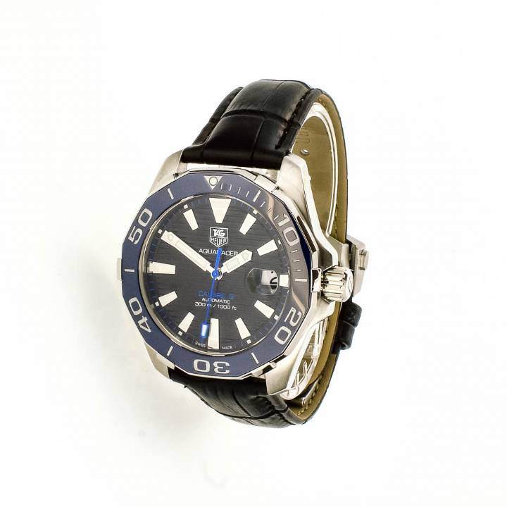 Pre-Owned Gents Tag Heuer Aquaracer, Black Strap Watch 7209093