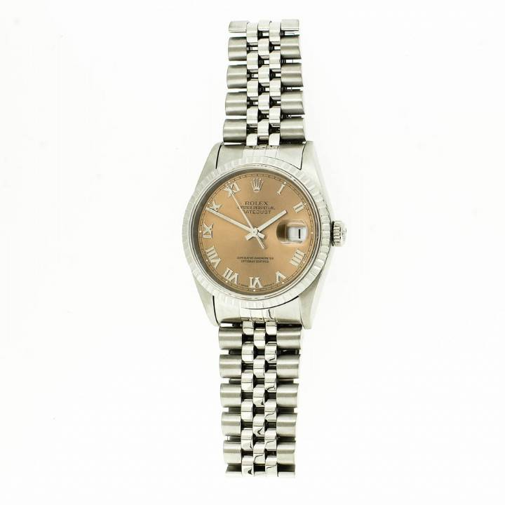 Pre-Owned Gents Rolex DateJust Watch, Salmon Dial
