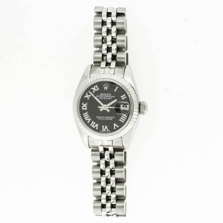 Pre-Owned Ladies Rolex Datejust Watch, Black Dial 1701200