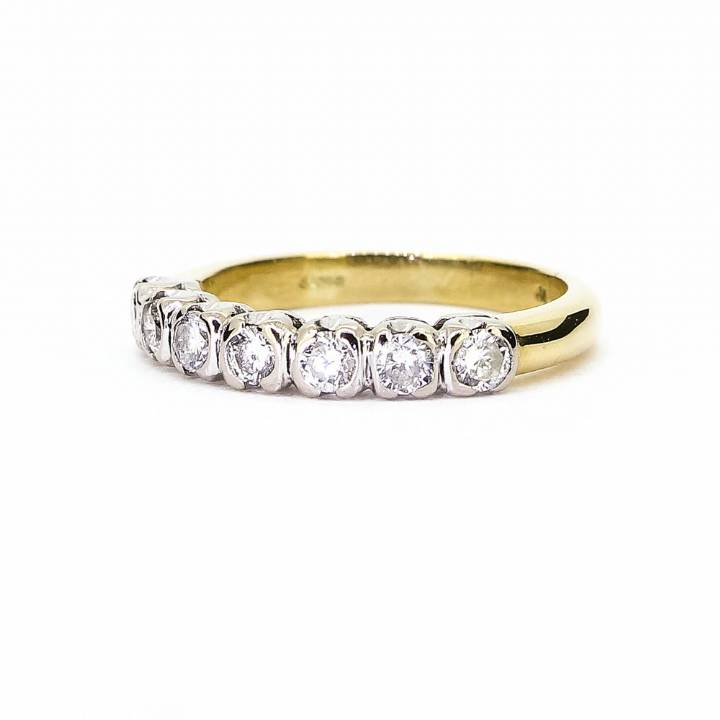 Pre-Owned 18ct Yellow Gold Half Eternity Ring 0.70ct Total 1604972