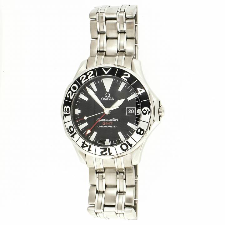 Pre-Owned Gents Omega Seamaster GMT Watch & Original Papers 7205063