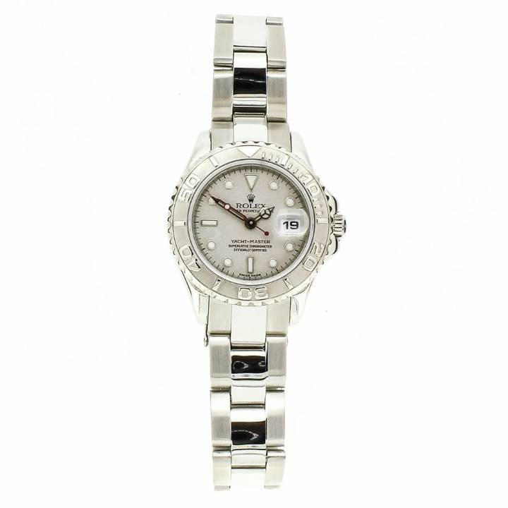 Pre-Owned Ladies Rolex Yacht-Master, Silver Dial Watch 169622 1701165