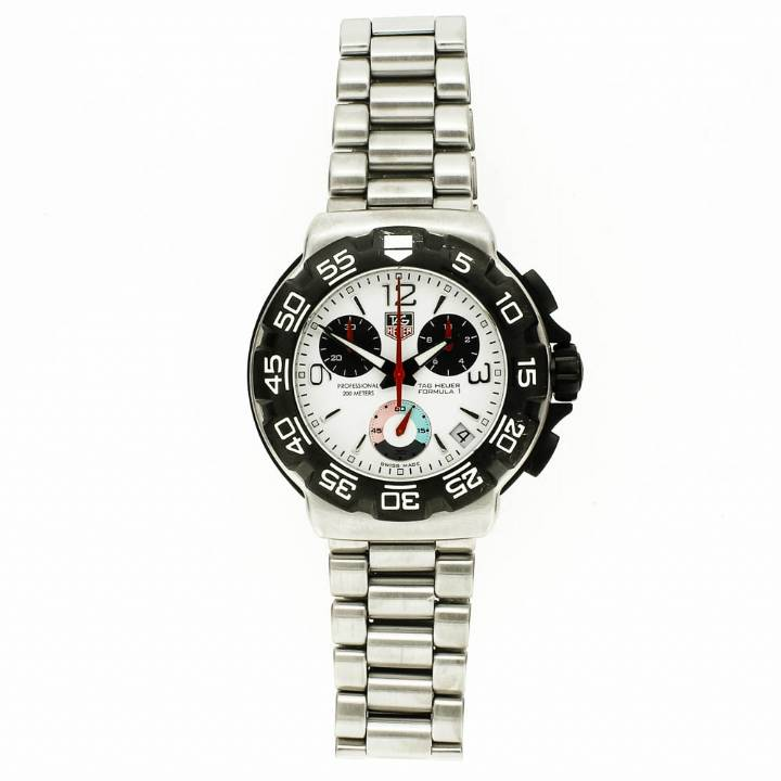 Pre-Owned Gents Tag Heuer F1, White Dial, Black Bezel 7209108
