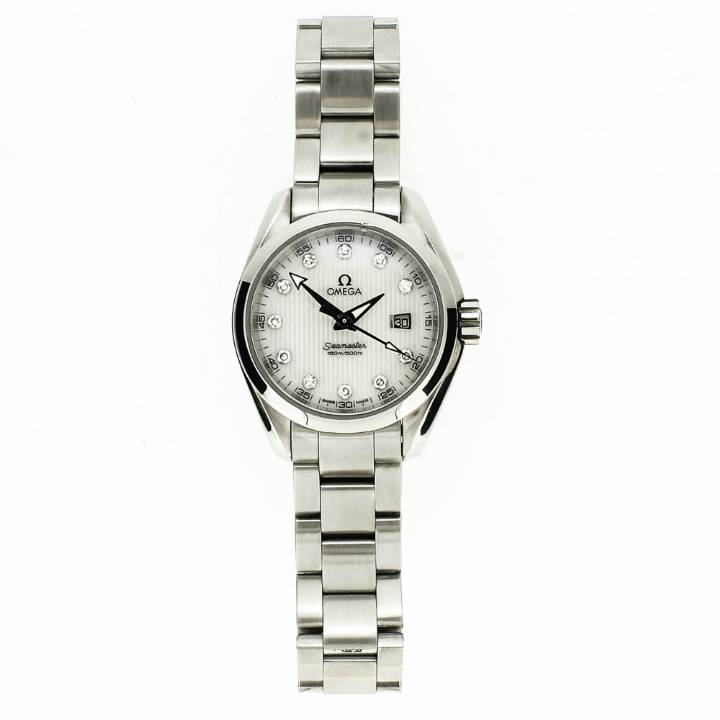 Pre-Owned Ladies Omega Seamaster & Original Papers 7205062