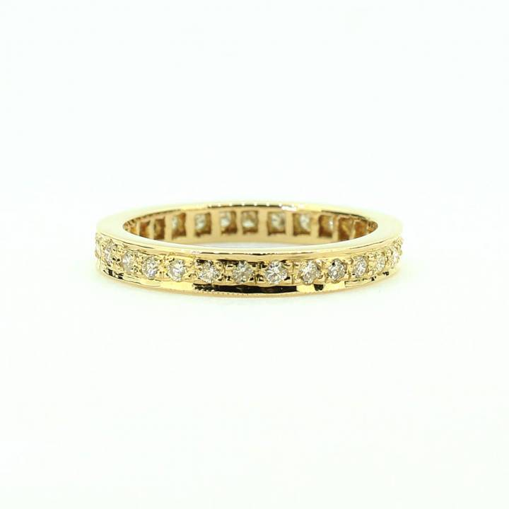 Pre-Owned 18ct Gold Diamond Full Eternity Ring Total 0.60ct