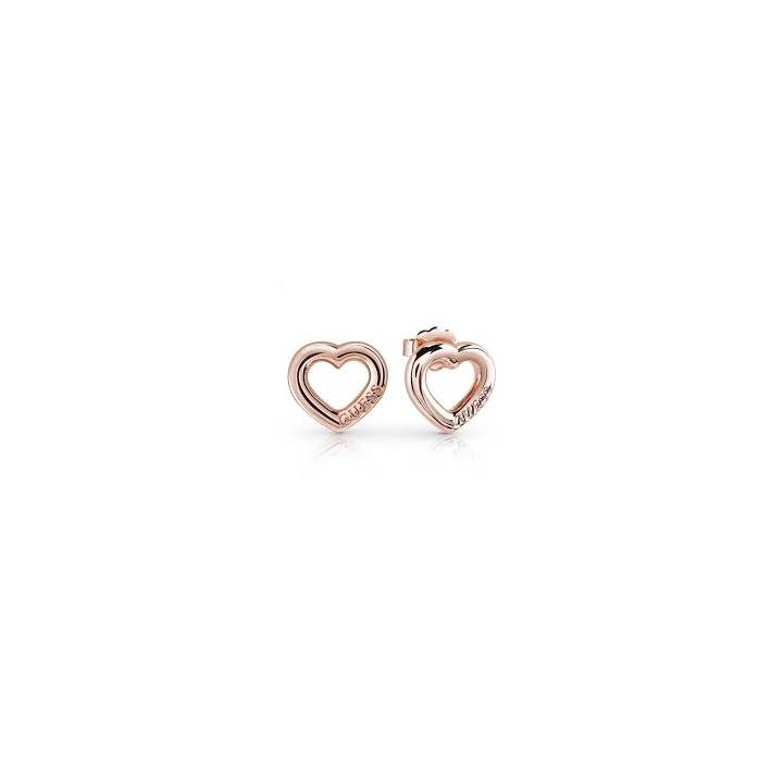 Guess Grace Rose Gold Plated Open Heart Stud Earrings Was £19.00