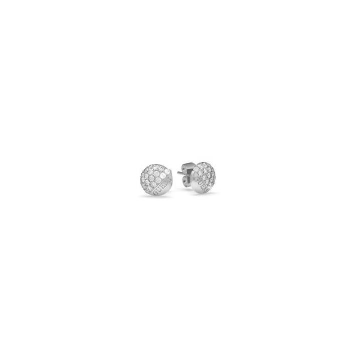 Guess Embrace Rhodium Crystal Button Stud Earrings Was £39.00 1401731