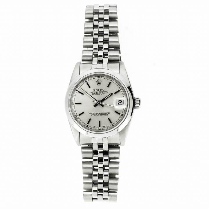 Pre-Owned Mid-Size Rolex DateJust Watch & Original Papers
