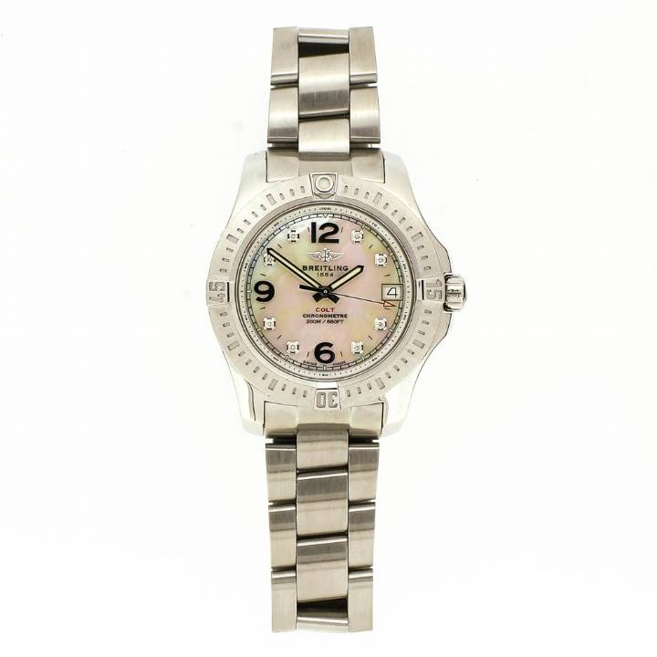 Pre-Owned Ladies Breitling Colt Watch, Original Papers