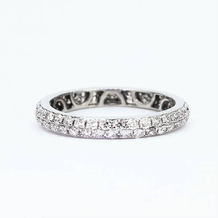 Pre-Owned 18ct White Gold Diamond Full Eternity Ring 0.93ct