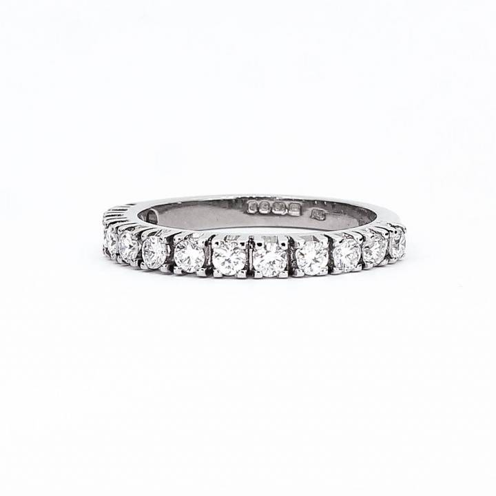 Pre-Owned 18ct White Gold Diamond Eternity Ring Total 0.65ct 1603316